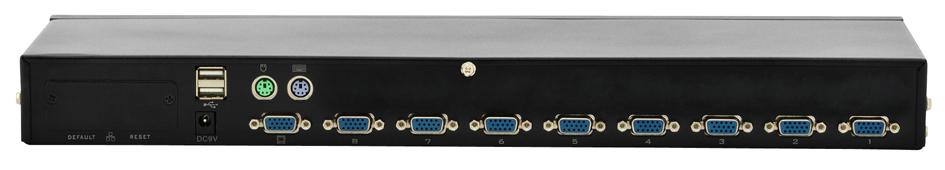 DIGITUS Combo KVM Switch USB / PS/2, mit OSD, 8...