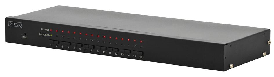 DIGITUS Combo KVM Switch USB / PS/2, 16-fach