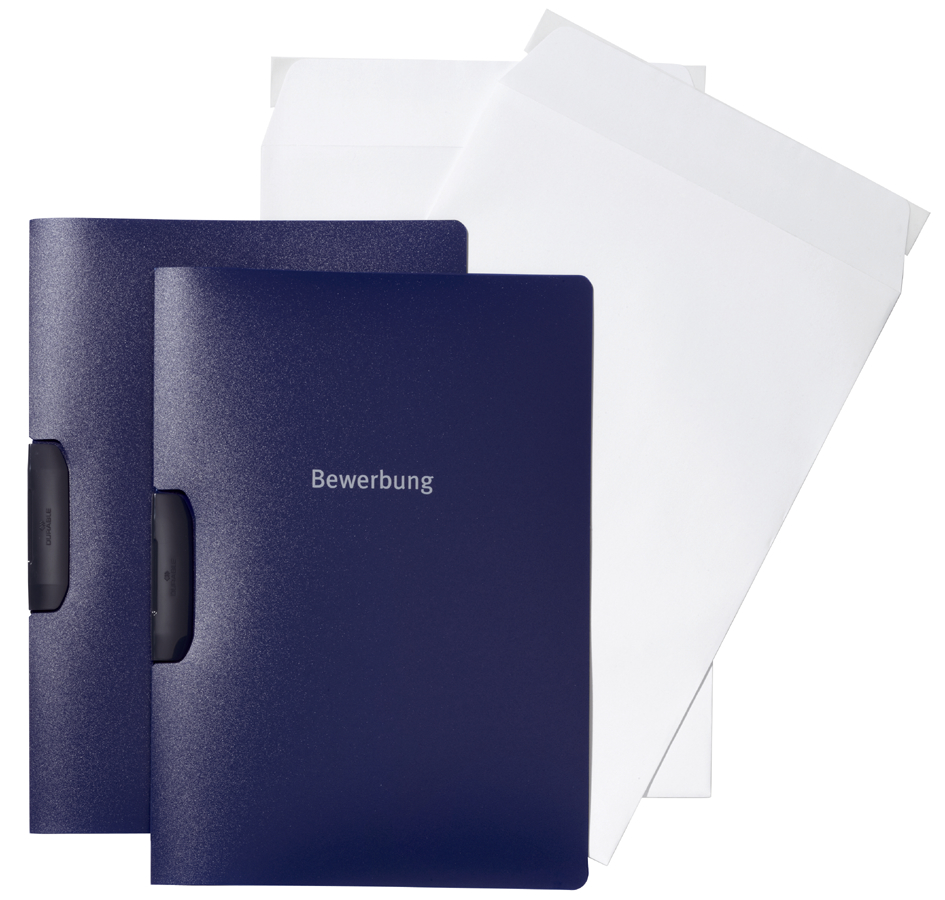 DURABLE Bewerbungs-Set DURASWING JOB, DIN A4, blau