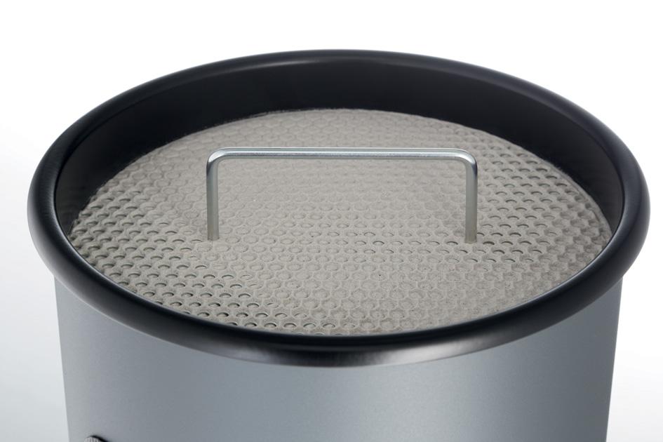 DURABLE Papierkorb METALL, mit Ascher, rund, schwarz