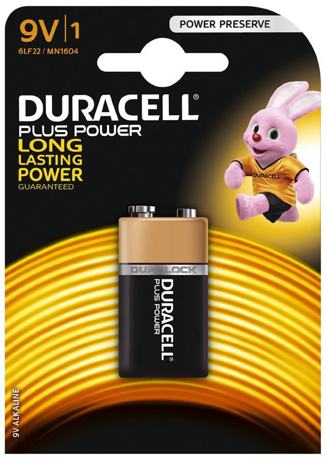 DURACELL Alkaline Batterie ´PLUS POWER´, E-Block 9V, 1er