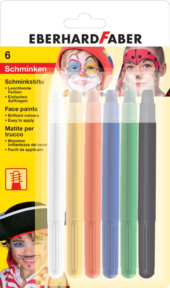 EBERHARD FABER Drehbares Schminkstifte-Set, 6 F...