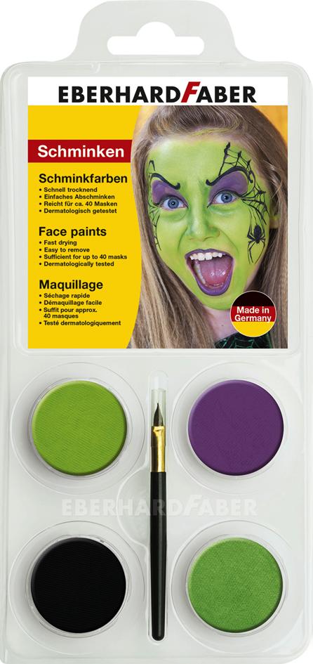EBERHARD FABER Schminkfarben-Set ´Hexe´, 4 Farben