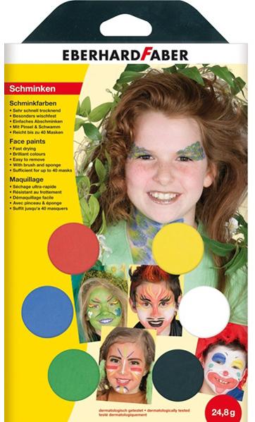 EBERHARD FABER Schminkfarben-Set ´Party´, 6 Farben