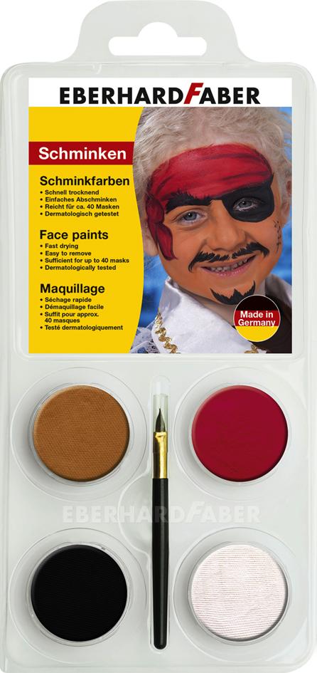 EBERHARD FABER Schminkfarben-Set ´Pirat´, 4 Farben