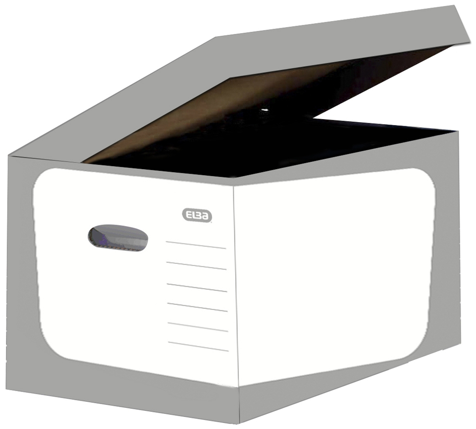 ELBA Archiv-Klappdeckelbox SOHO, grau/weiß