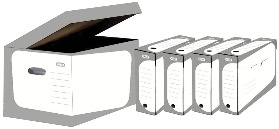 ELBA Archiv-Klappdeckelbox SOHO inkl. 4 Archiv-...