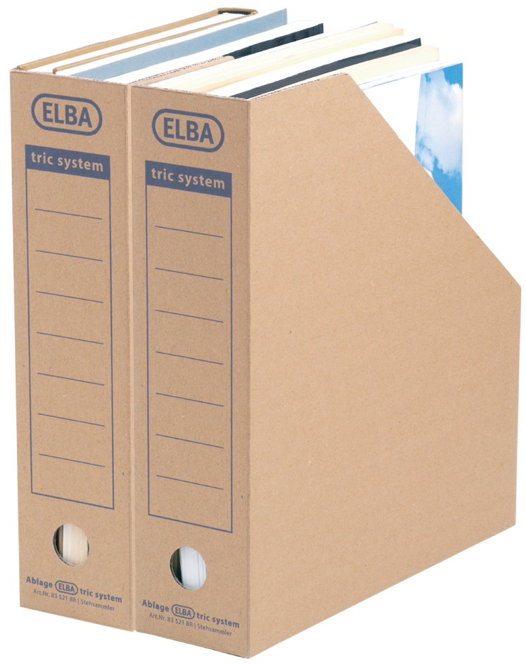 ELBA Archiv-Stehsammler tric System, naturbraun