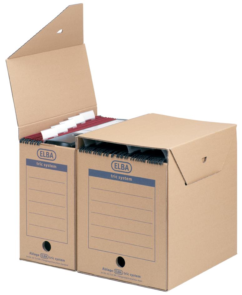 ELBA Hängemappen-Archiv tric System maxi, natur...
