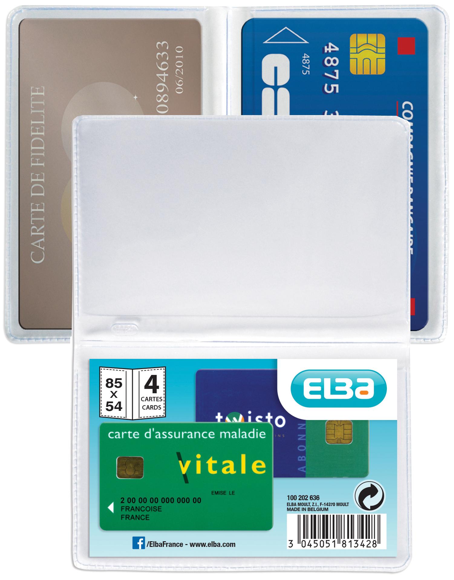 ELBA Kreditkartenhülle für 4 Kreditkarten, 0,20...