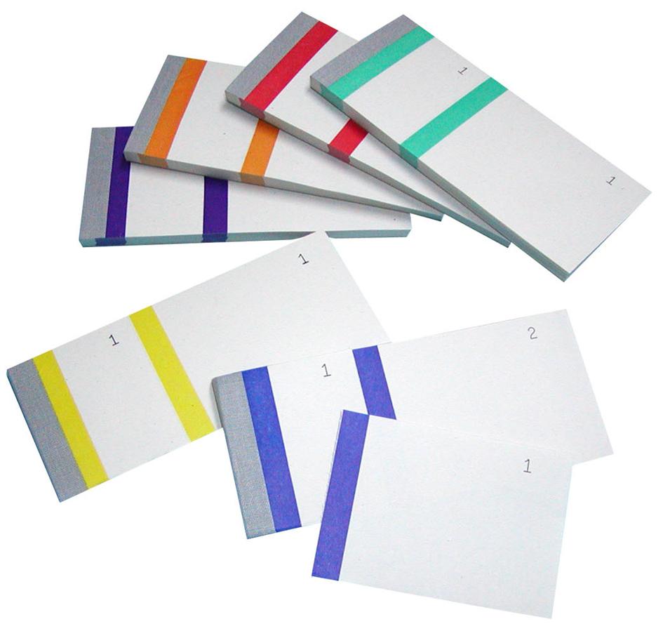 ELVE Bon-Block, farbig sortiert, Maße: (B)135 x...