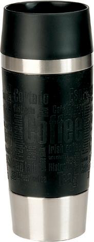 emsa Isolierbecher TRAVEL MUG, 0,36 L., Manschette schwarz