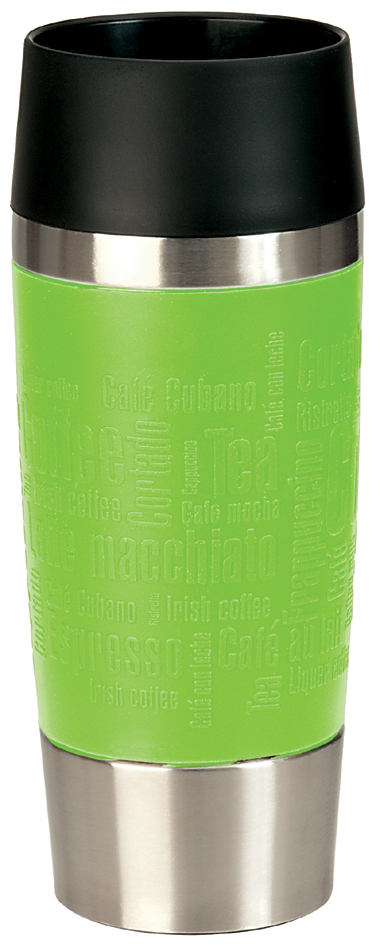 emsa Isolierbecher TRAVEL MUG, 0,36 L., Manschette limette