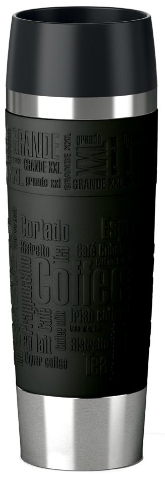 emsa Isolierbecher TRAVEL MUG Grande, 0,50 Liter, schwarz