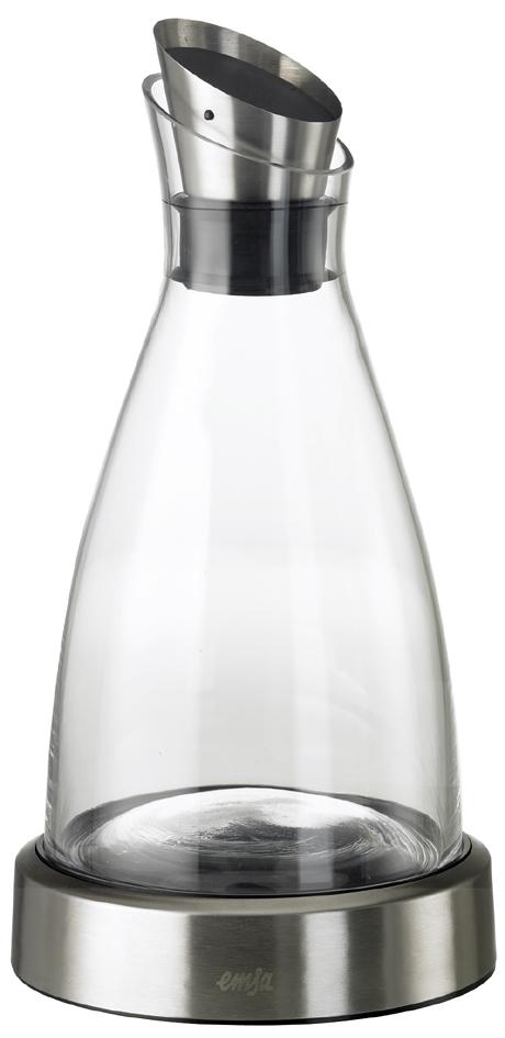 emsa Kühlkaraffe FLOW, 1,0 Liter, Glas/Edelstahl
