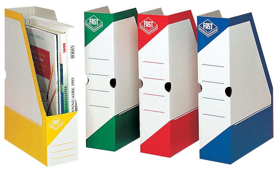 FAST Archiv-Stehsammler, Karton, weiß/rot, mit ...