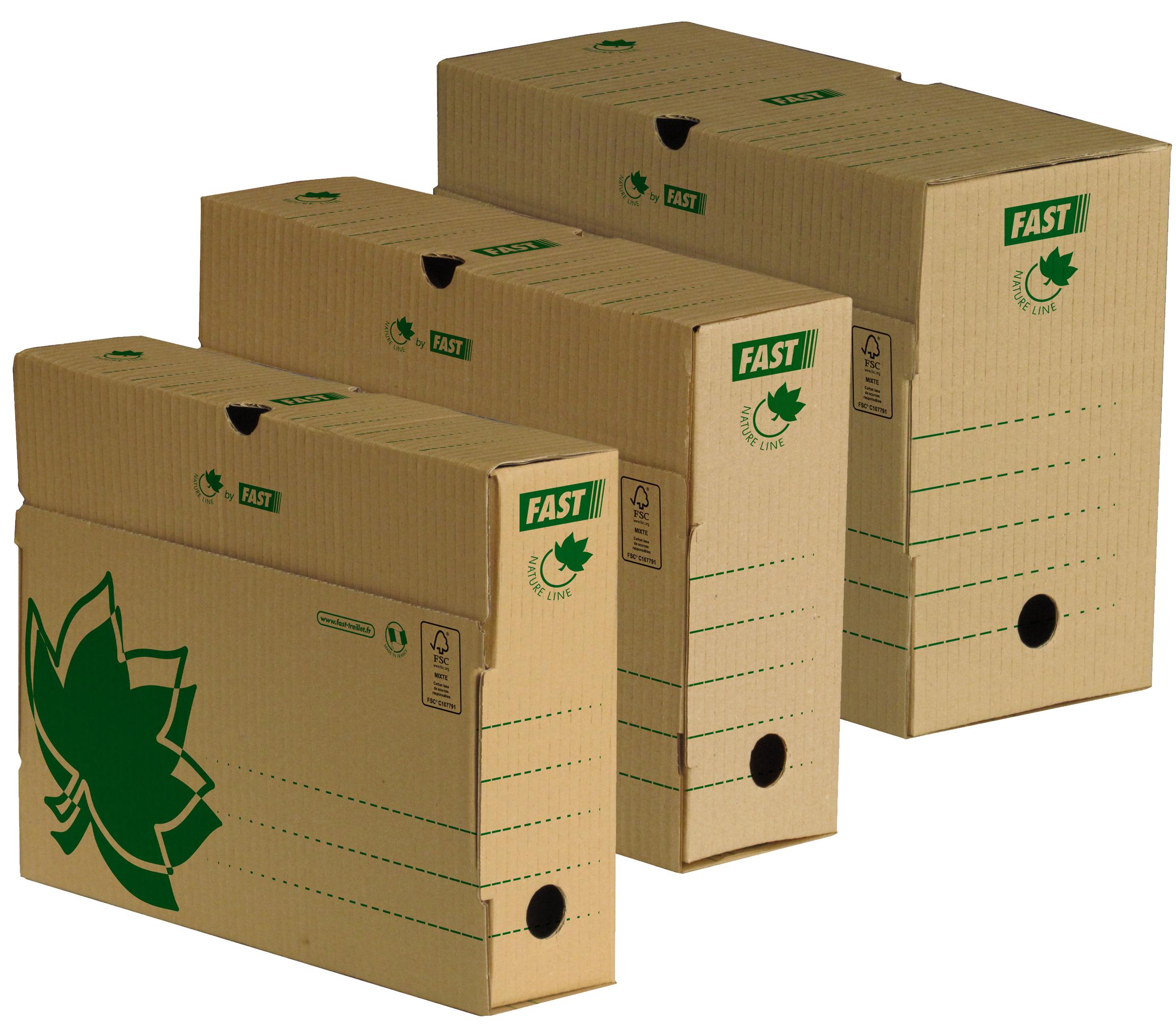 FAST NATURE LINE Archiv-Schachtel, aus brauner ...