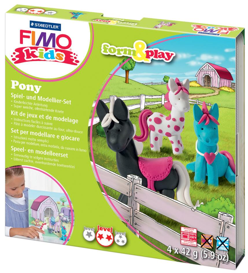 FIMO kids Modellier-Set Form & Play ´Pony´, Level 2
