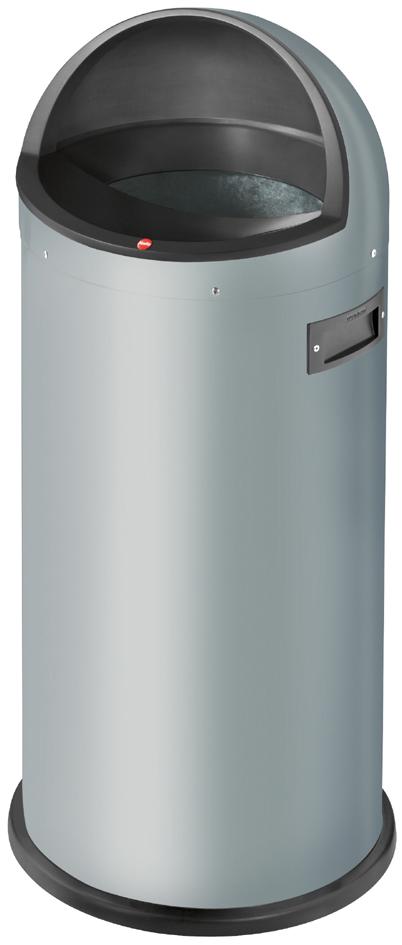 Hailo Abfalleimer Quick XL, rund, 48 Liter, silber