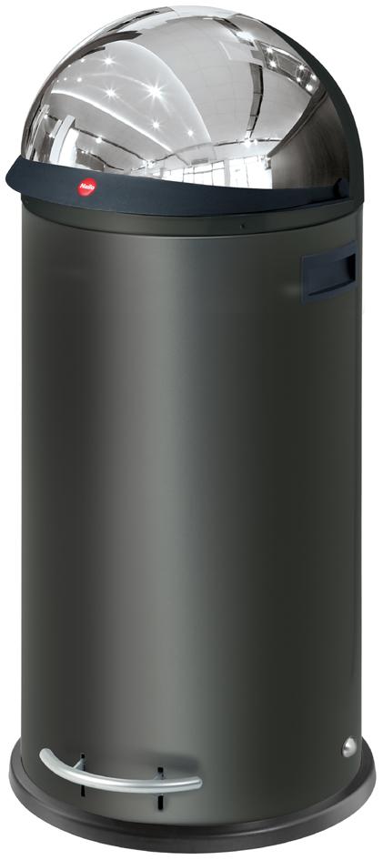 Hailo Tret-Abfalleimer KickVisier XL, rund, 36 Liter,schwarz