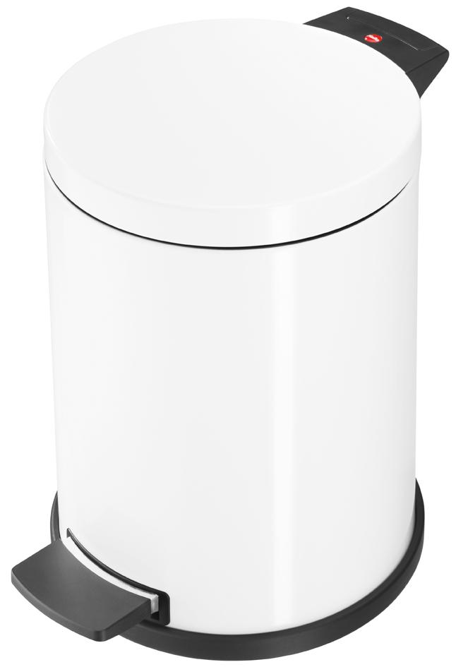 Hailo Tret-Abfalleimer ProfiLine Solid M, 12 Liter, weiß