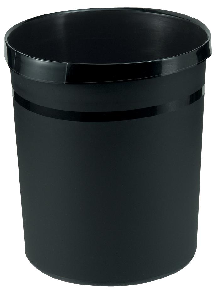 HAN Papierkorb GRIP, 18 Liter, rund, schwarz
