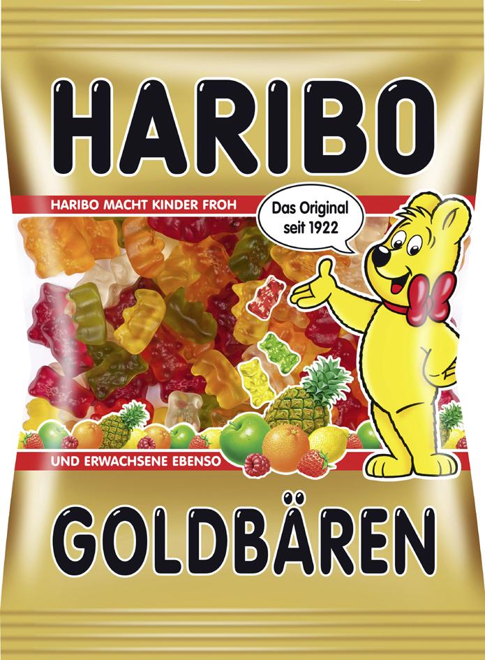 HARIBO Fruchtgummi Goldbären, 200 g Beutel