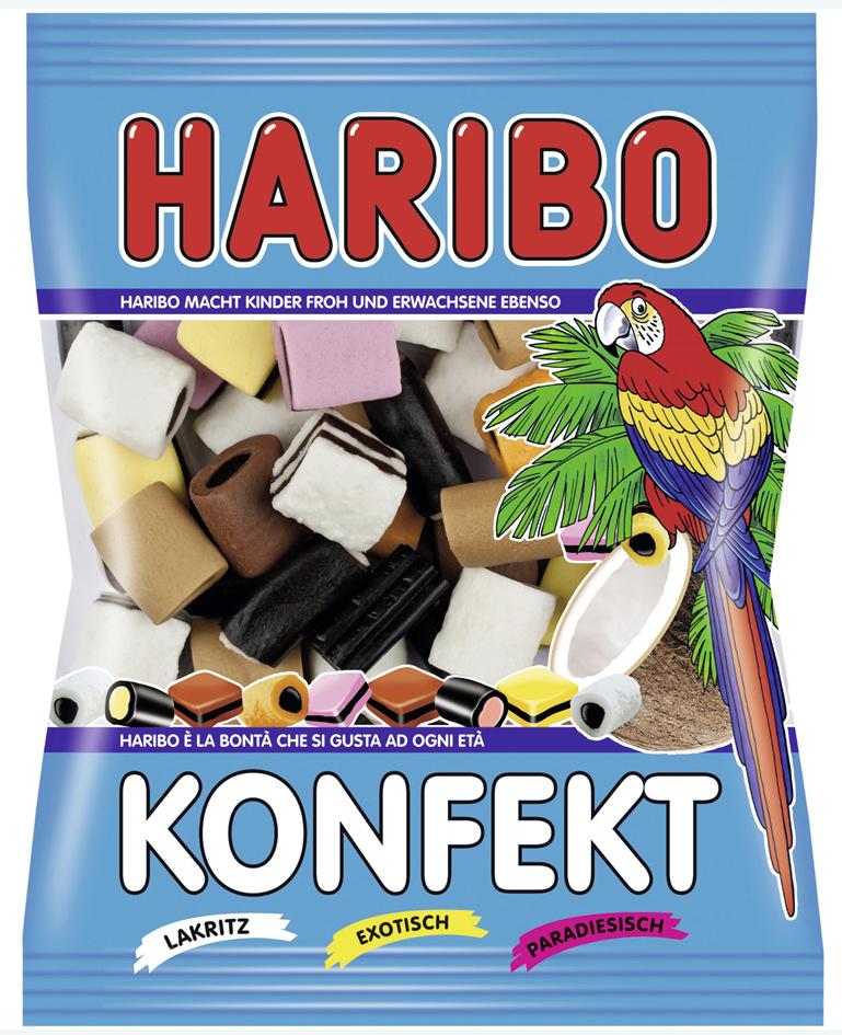 HARIBO Fruchtgummi KONFEKT, 200 g Beutel