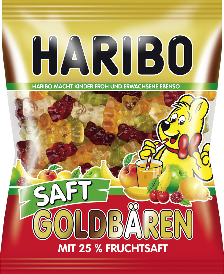 HARIBO Fruchtgummi Saft-Goldbären, 175 g Beutel