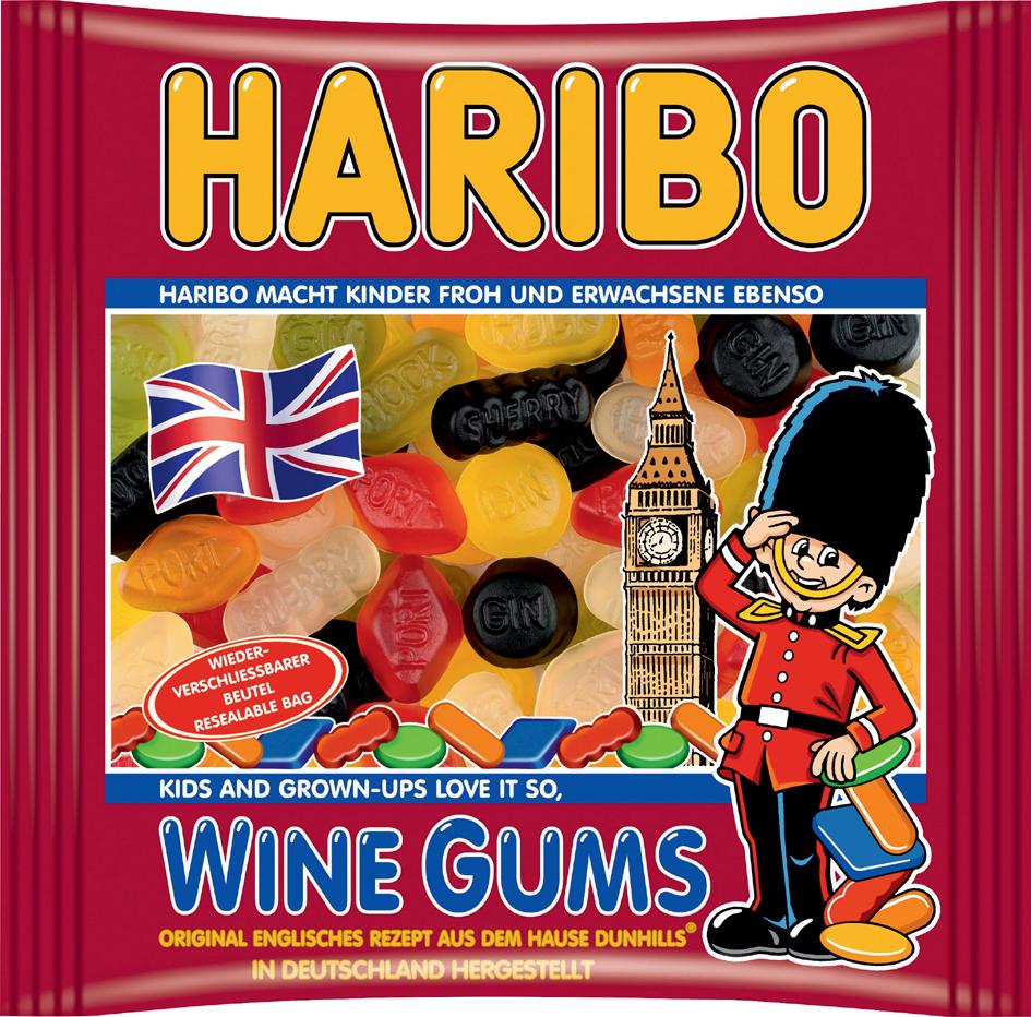 HARIBO Fruchtgummi WINE GUMS, 500 g Beutel