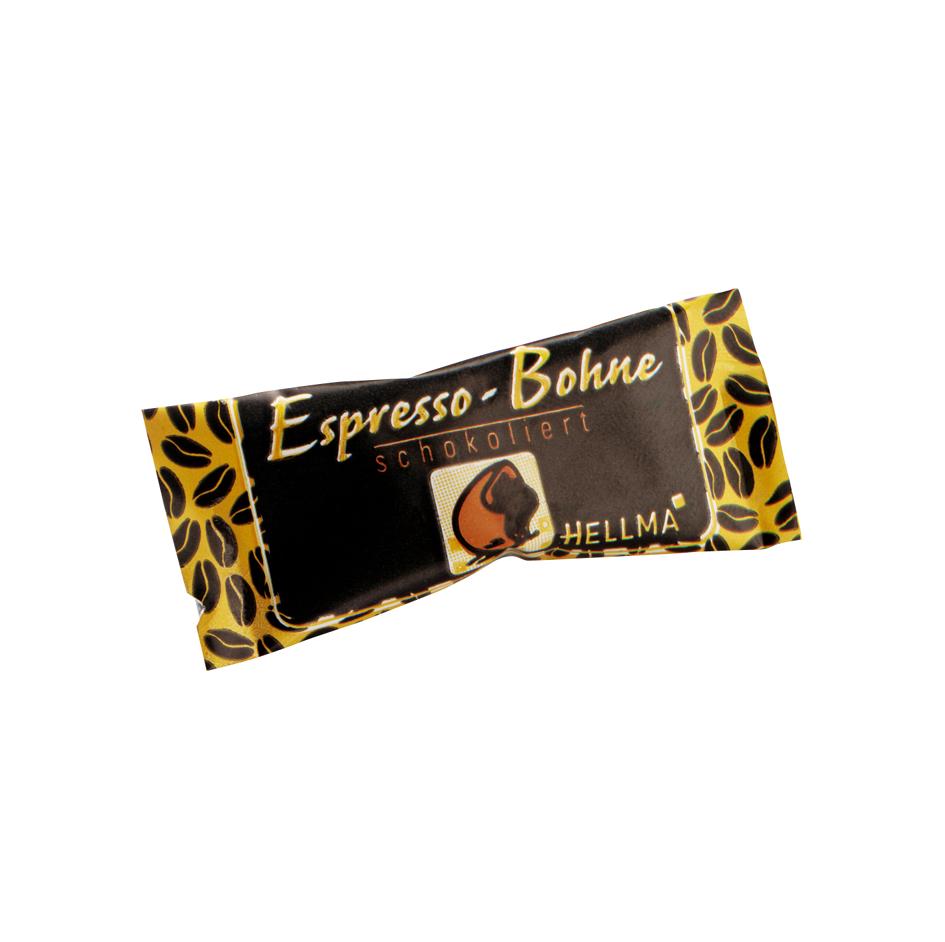 HELLMA Espresso-Bohnen in Zartbitterschokolade, im Karton