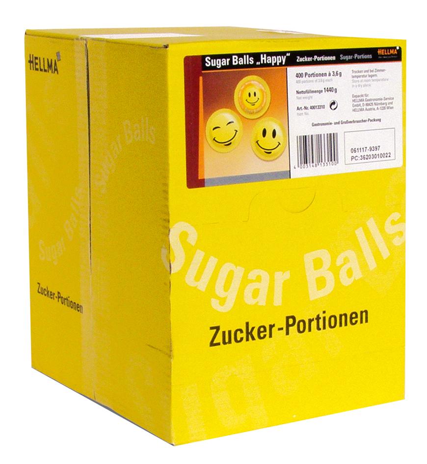 HELLMA Zuckersachets Sugar Balls ´Happy´, im Displaykarton