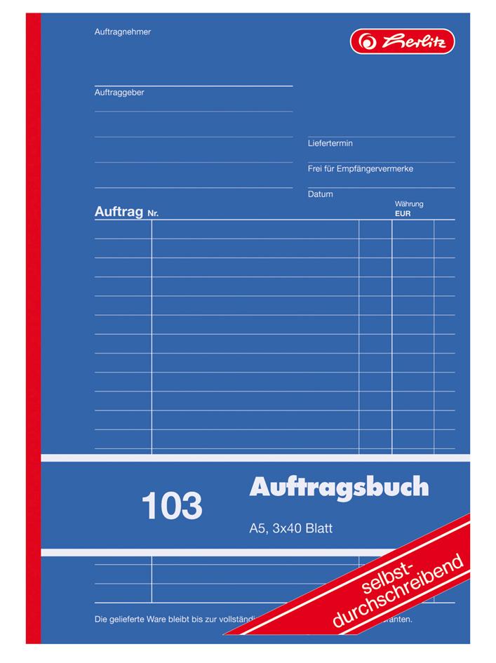herlitz Formularbuch ´Auftrag 103´, DIN A5, 3 x...