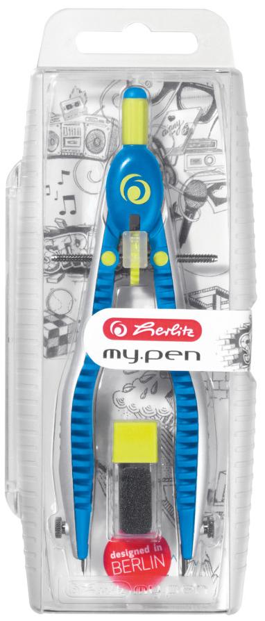 herlitz Schnellverstellzirkel my.pen, blau / lemon