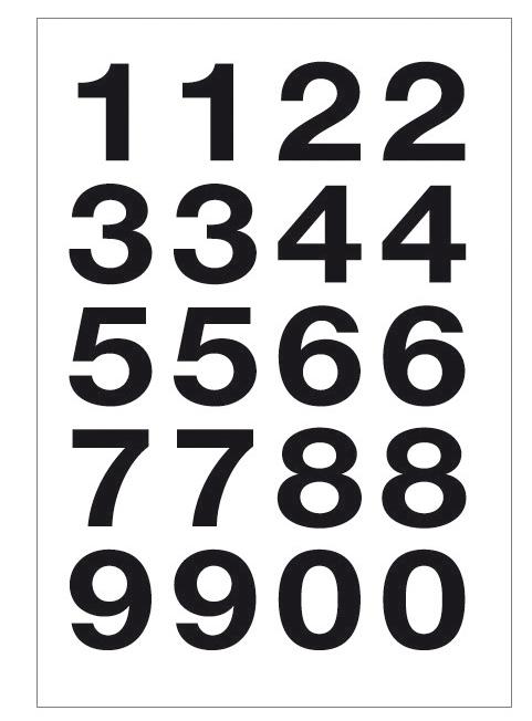 herlitz Zahlen-Sticker 0-9, Folie schwarz, Höhe...