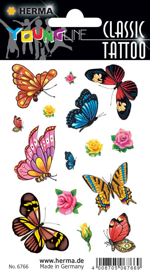 HERMA CLASSIC Tattoo ´Colour Schmetterlinge´