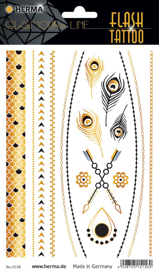 HERMA FLASH Tattoo ´Jewels´, Gold und Silber
