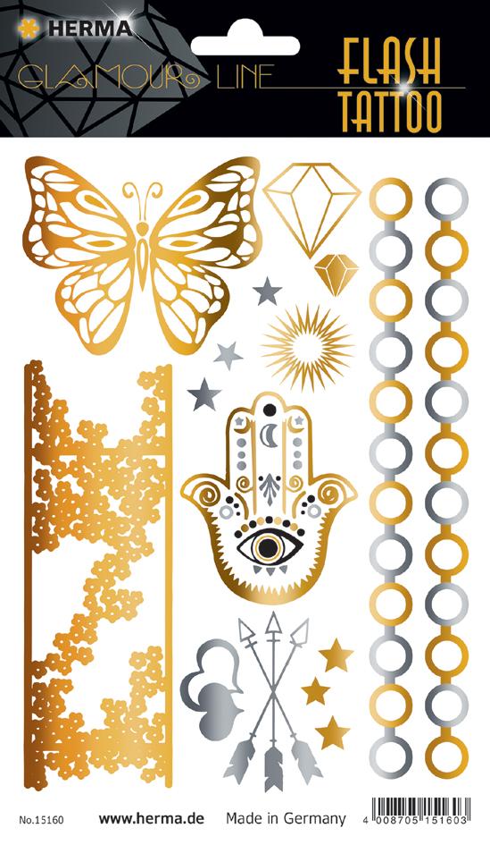 HERMA FLASH Tattoo ´Orient´, Gold und Silber