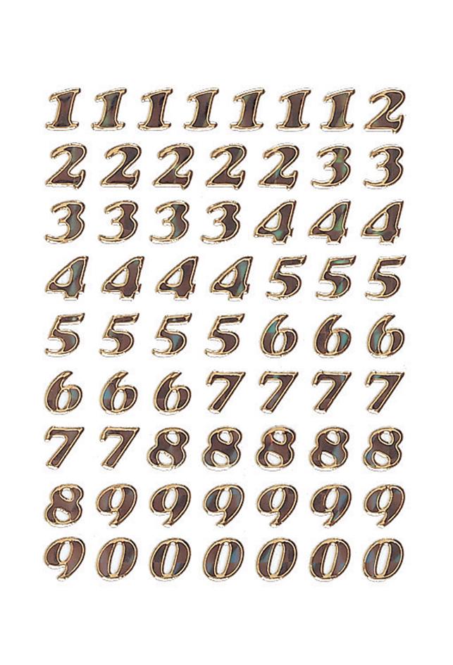 HERMA Zahlen-Sticker 0-9, Prismaticfolie gold g...