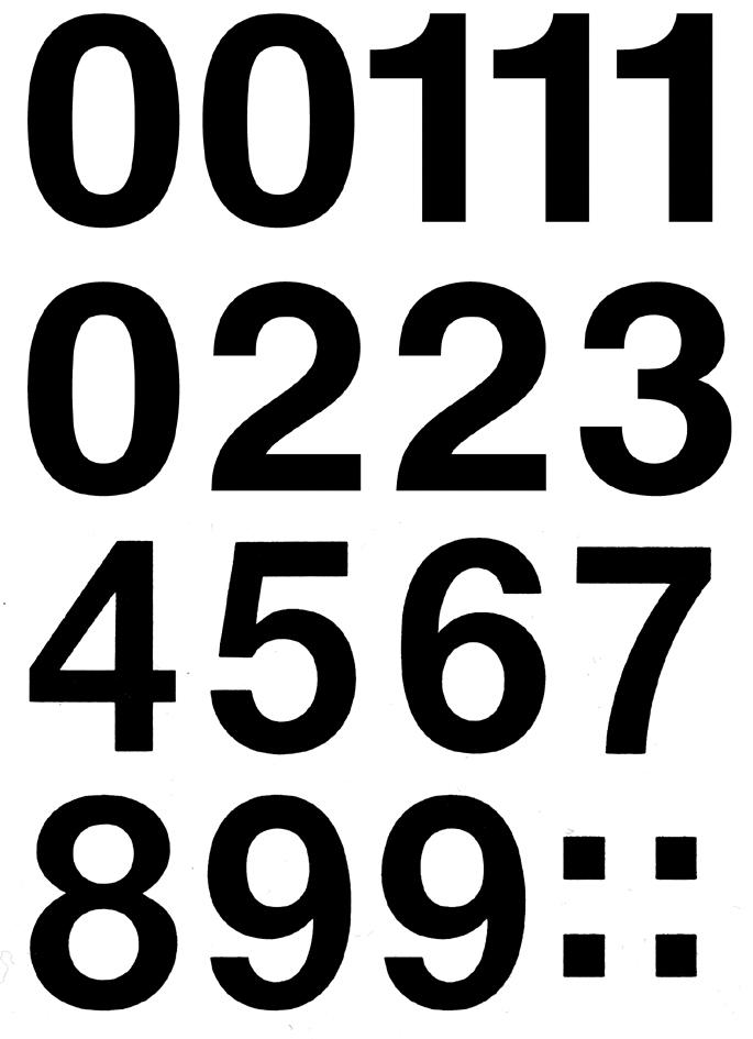HERMA Zahlen-Sticker 0-9, Folie schwarz, Höhe: ...