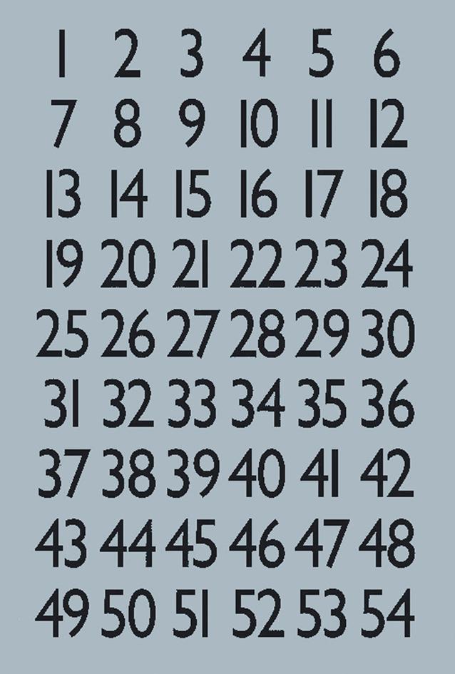 HERMA Zahlen-Sticker 1-100, Folie silber, Zahle...