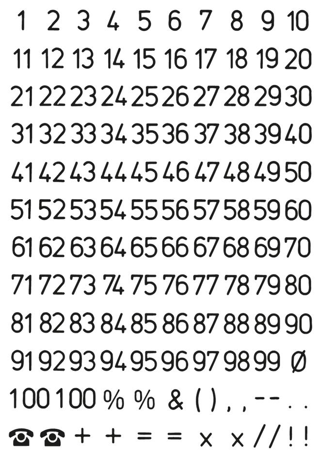 HERMA Zahlen-Sticker 1-100, Folie schwarz, Höhe...