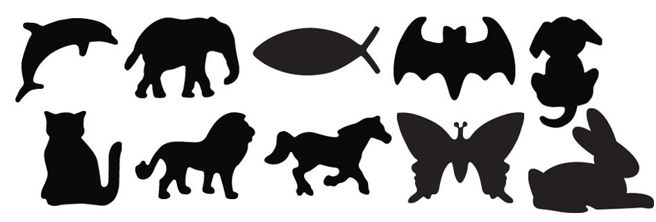 HEYDA Motiv-Locher Hund, klein, Farbe: rot
