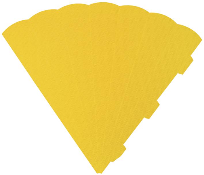 HEYDA Schultüten-Zuschnitt, 6-eckig, 69 cm, gelb