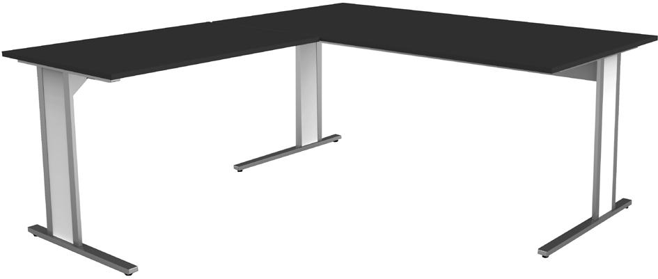 kerkmann Schreibtisch AVETO, C-Füße, (B)1.800 mm, weiß