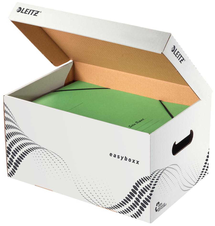 LEITZ Archiv-Klappdeckelbox easyboxx S, weiß
