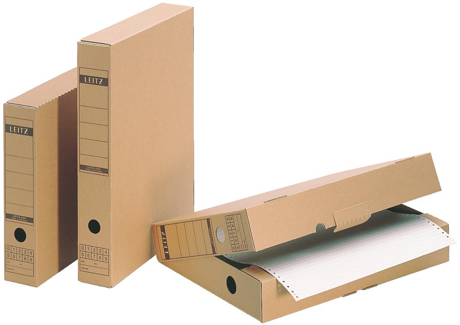 LEITZ Archiv-Schachtel, mit Verschlusslasche, A...