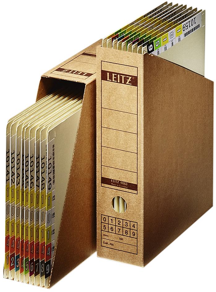 LEITZ Archiv-Stehsammler, DIN A4, aus Wellpappe...