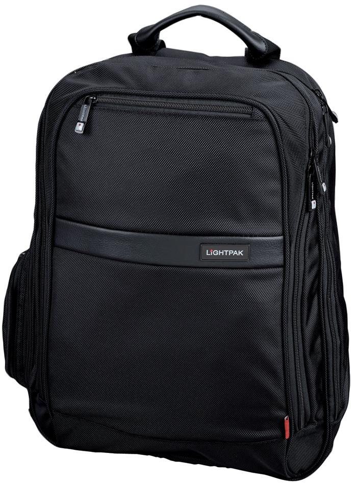 LiGHTPAK Notebook-Rucksack ´ECHO´, aus Nylon, schwarz