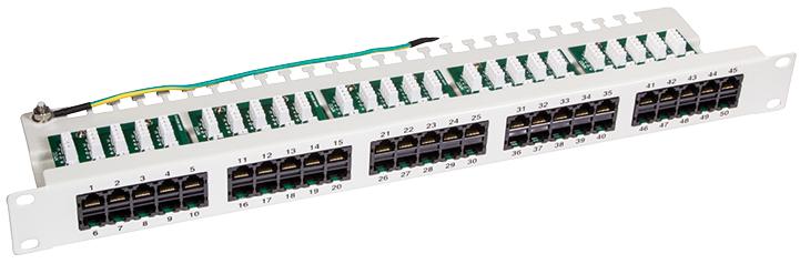 LogiLink 19´ ISDN Patch Panel Kat. 3, 50-Ports,...